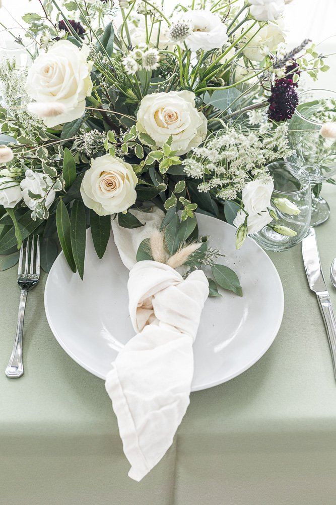 Wedding Bouquet on a table at The Lodge at Harvey 5 Wedding and Event Venue in Gatesville Texas